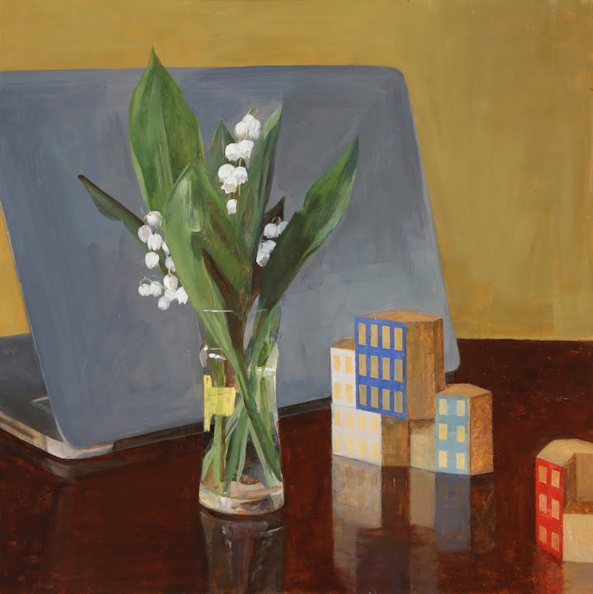 HelenOh_Lily of the Valley_Acrylic on board