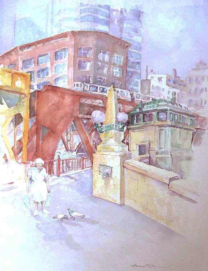 rebecca venn Art…chicago elevated train