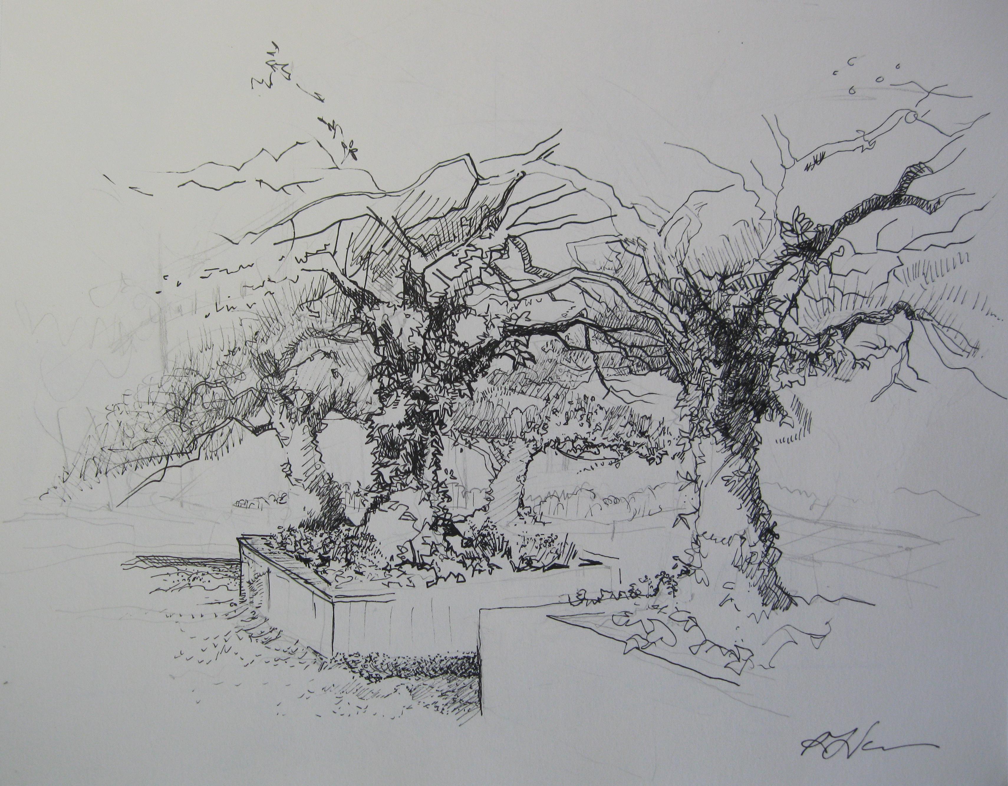 rebecca venn Trees Hawthorne Garden Art Institute Chicago